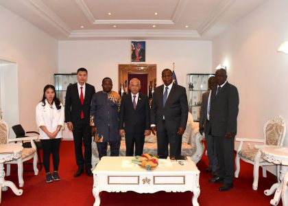 The president of Be Green group met up with The president of Central African Republic.